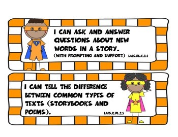 Superhero Florida Reading I Can Statements