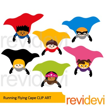 Superhero Flying Cape clip art