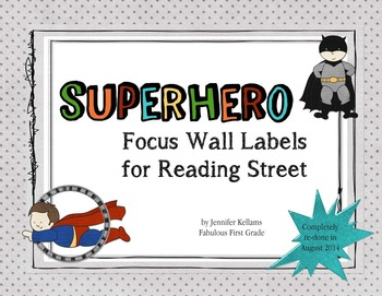 Superhero Focus Wall Labels - Reading Street 2.0