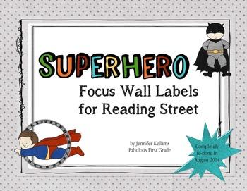 Superhero Focus Wall Labels - Reading Street 2.0