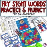 Fry's First 100 Sight Word Fluency Practice and Activities