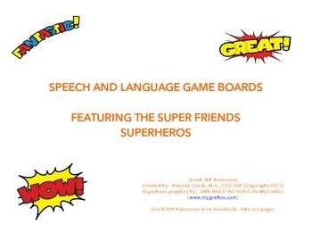 Superhero Game Boards
