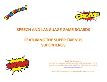 Superhero Game Boards