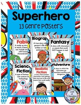 Superhero Genre Posters