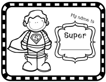 Superhero Get to Know You Glyph (Back to School/Open House FUN)