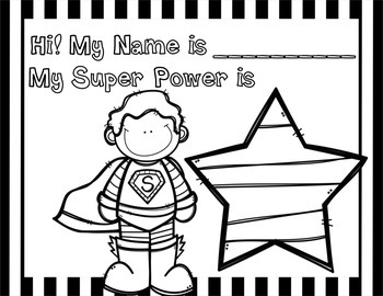 Superhero Getting to Know You Freebie!
