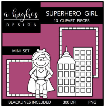 Superhero Girl Mini Clipart Bundle {A Hughes Design}