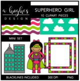 Superhero Girl Mini Clipart Bundle {A Hughes Design}