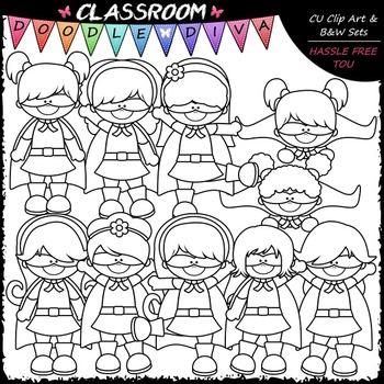 Superhero Girls Clip Art - Kids Superhero Clip Art
