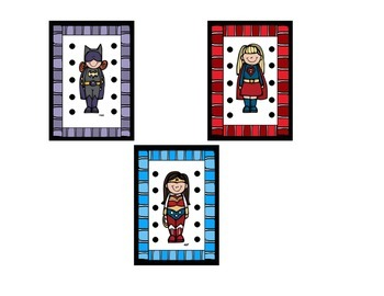 Superhero Girls Behavior Punch Cards