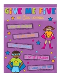 Superhero Give Me Five Poster