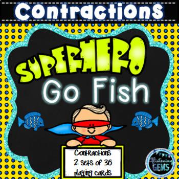 Superhero Go Fish - Contractions