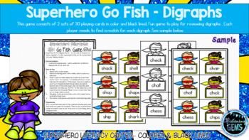 Superhero Go Fish - Digraphs