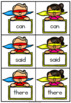 Superhero Go Fish - Fry 1st 100 Words - 5 Games