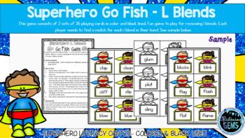Superhero Go Fish - L Blends Game