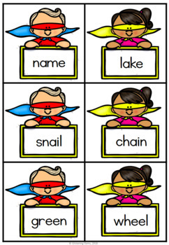 Superhero Go Fish - Short & Long Vowels