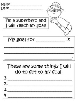 Superhero Goal Setting