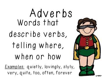 Superhero Grammar Wall 8 Parts of Speech