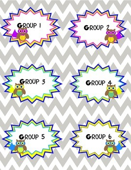 Superhero Owls Group Labels