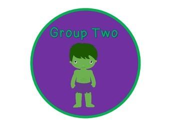 Superhero Group Signs #1-7