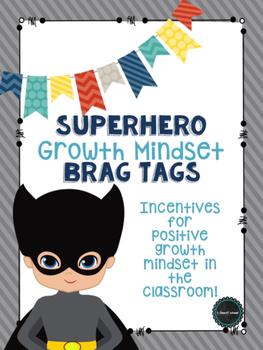 Superhero Growth Mindset Brag Tags