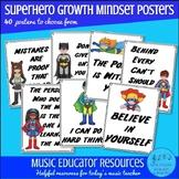 Superhero Growth Mindset Posters