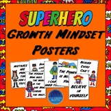 Superhero Growth Mindset Posters