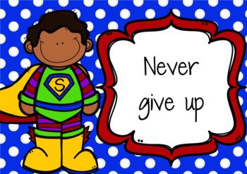 Superhero Growth Mindset Posters (Editable)