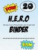 Super hero H.E.R.O Binder Covers