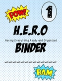 Super hero H.E.R.O Binder Covers