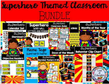Superhero HUGE Bundle Classroom Decor