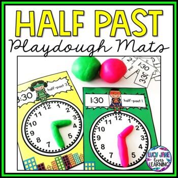 Superhero Half-Past Time Playdough Mats