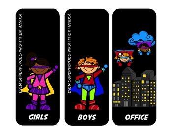 Superhero Hall Passes