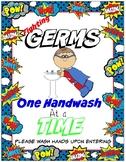 Superhero Handwashing Sign