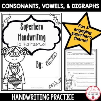 Superhero Handwriting Practice Pack