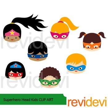 Superhero Head Kids clip art