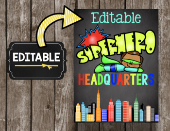 Superhero Headquarters Poster - Editable to Personalize