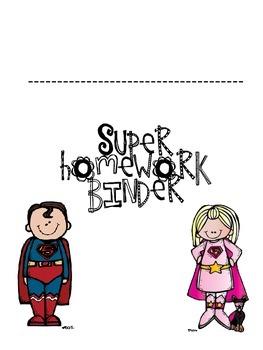 Superhero Homework Binder Cover