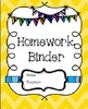 Homework and Communication Binder Folder Covers and logs