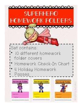 Superhero Homework Folders