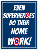Superhero Homework Poster