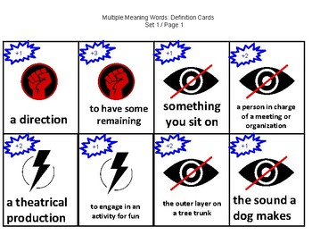 Superhero Homonyms / Multiple Meaning Words