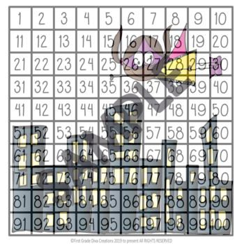 Superhero Hundred and Hundred and Twenty Chart Puzzles
