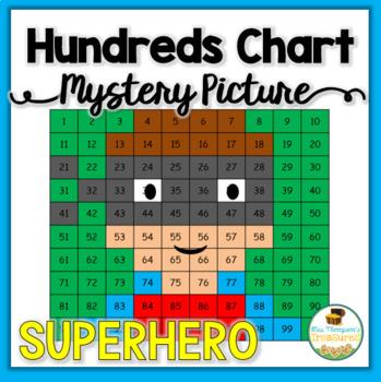 Superhero Hundreds Chart Mystery Picture