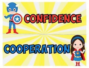 Superhero IB PYP Attitudes Posters