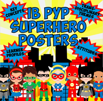 Superhero IB PYP Poster BUNDLE