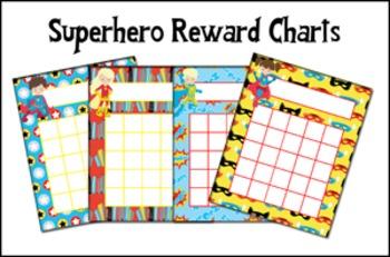 Superhero Incentive Reward Charts