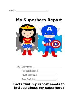 Superhero Informational Report