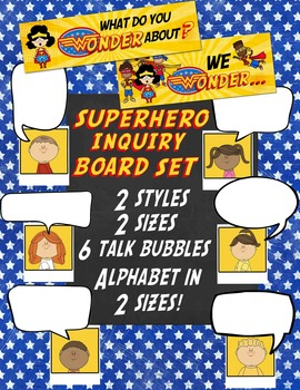 Superhero Inquiry Bulletin Board Set