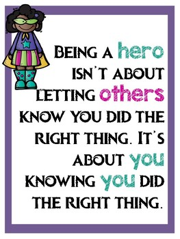 Superhero Inspirational Quote Posters